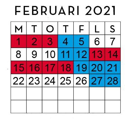 Huggtabell Februari