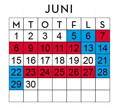 Huggtabell Juni