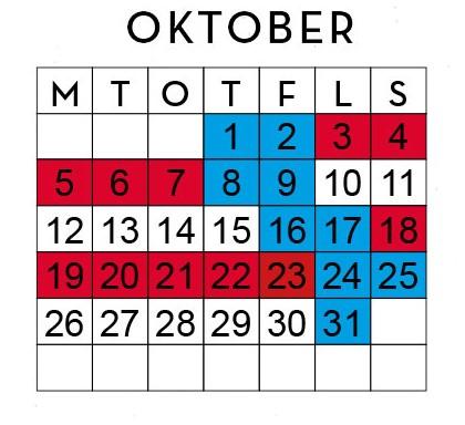 Huggtabell Oktober