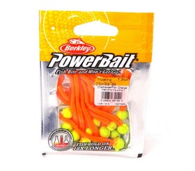PowerBait floating micetails Chartreuse/Fluo Orange