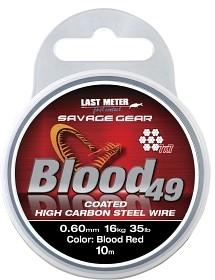 SG Blood49 0.60mm 16kg 35lb Coated Red 10m
