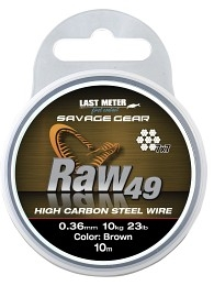 SG Raw49 0.36mm 11kg 24lb Uncoated Brown 10m