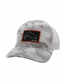 Bild på Simms High Crown Patch Trucker Hex Camo Boulder