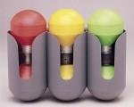 3 markörer olika färg+ hållare
