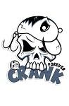 Klistermärke 15x14cm Crank Forever
