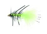 B.H. Rubber Leg Wooly Fluo Green Daiichi 1720 # 8