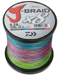 Daiwa J-Braid X8 0,35mm 79LB 1500M Multi Color