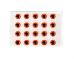 Epoxy Eyes 4,8mm - Fluo Red
