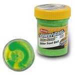 Glitter Trout Bait 50g Fluo Green Yellow