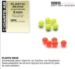 PLASTIC BEAD-FL,RED 6mm