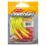 PowerBait floating micetails Fluo Red/Chartreuse