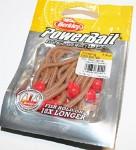 PowerBait floating micetails Natural/Fluorescent Red