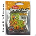 PowerBait floating micetails Orange Silver/Chartreuse