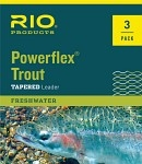 RIO Powerflex TroutLeader 9 ft 3 Pack Nylon