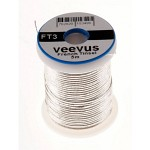 Veevus Oval Tinsel #M, Silver