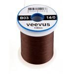 Veevus thread 14/0, Dark Brown