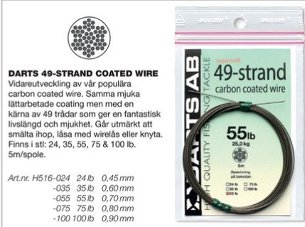 Darts 49-Strand Carbon Coated Wire