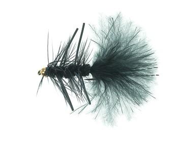 B.H. Rubber Leg Wooly Black Daiichi 1720 # 8