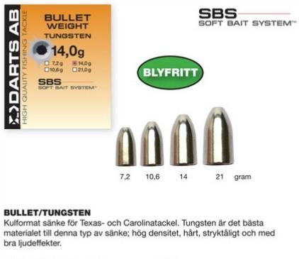 Bullet Weight Tungsten 7,2g
