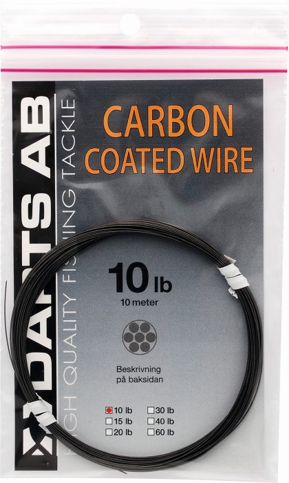 Darts Carbon Coated Wire 10-90lb 10meter