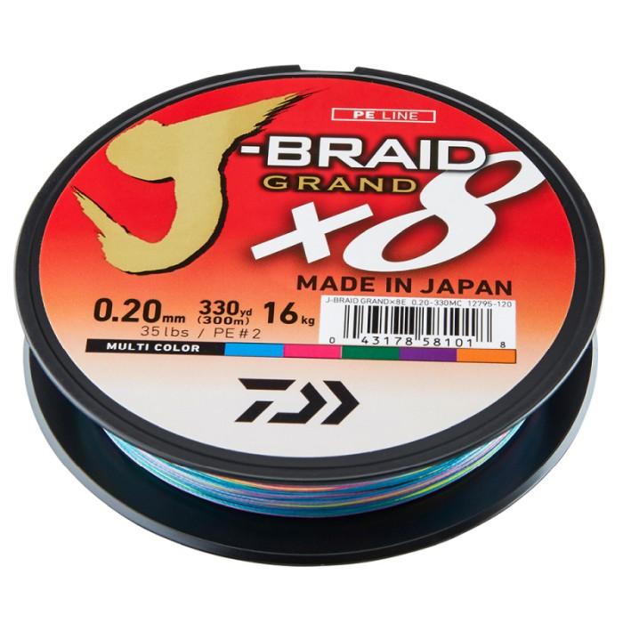 Daiwa J-Braid Grand X8 300m Multi Color Flätlina
