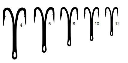 Mustad dubbelkrok 2 x X-strong 1x lång 8