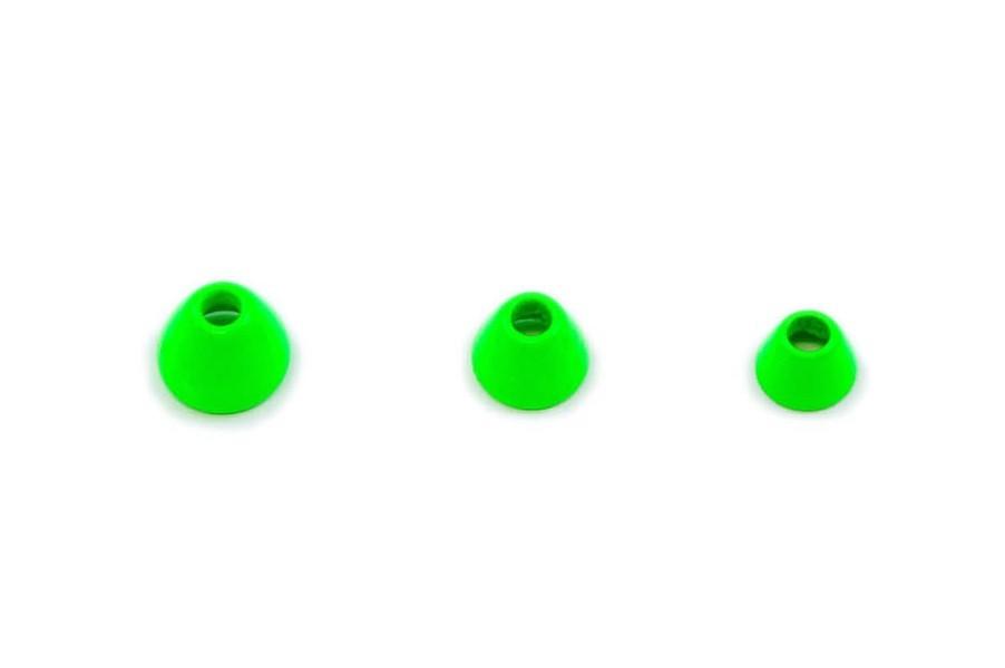 Fits Tungsten cones - fl chartreuse micro