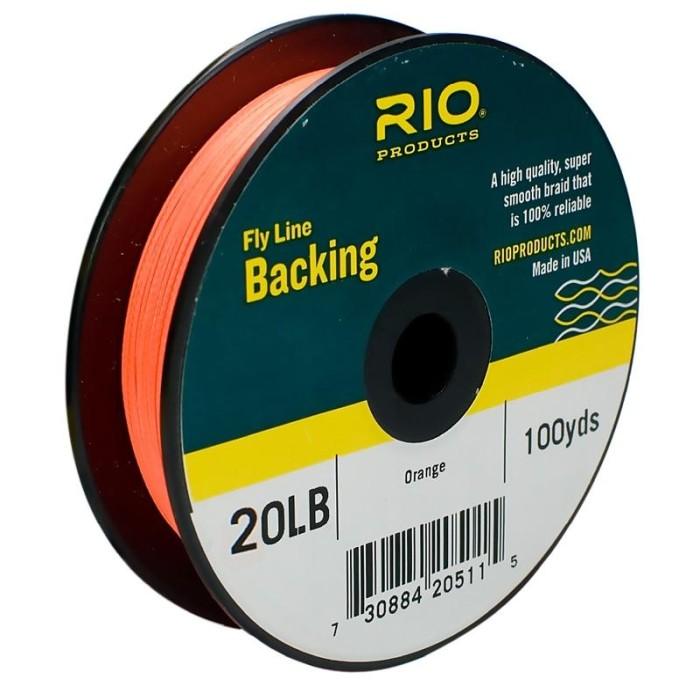 Flyline Backing 20lb 100yds Orange