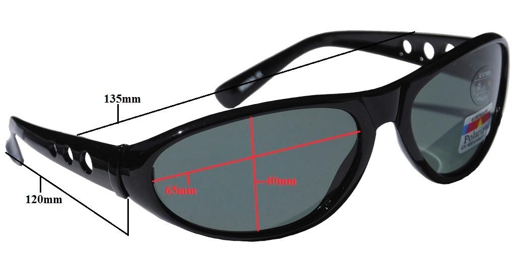 Glasögon Polariserande grå lins uv 400 m. +2,5