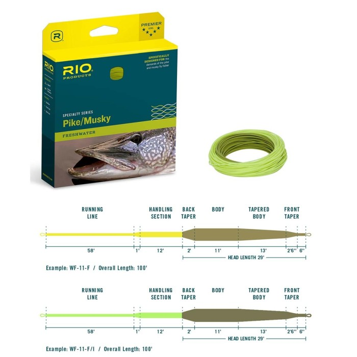 InTouch RIO Pike/Musky Gray/Yellow Flyt/int