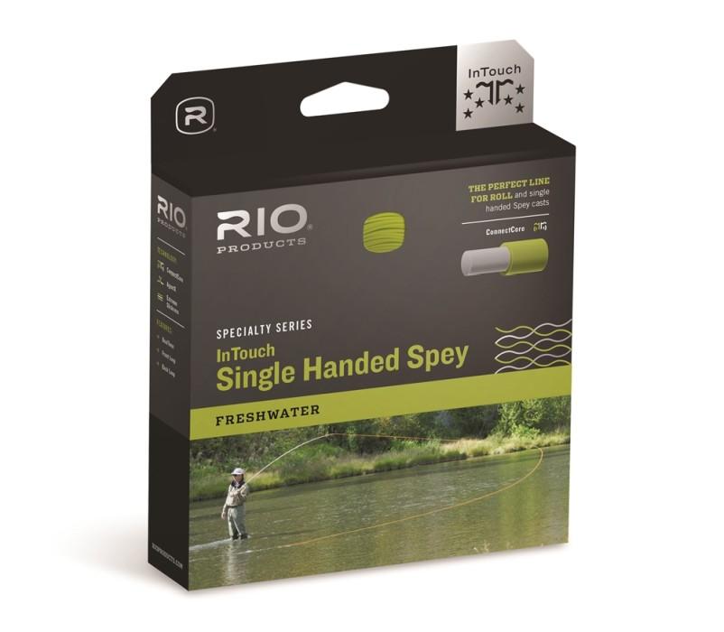 RIO InTouch Single Hand Spey Peach/Camo Flyt Fluglina