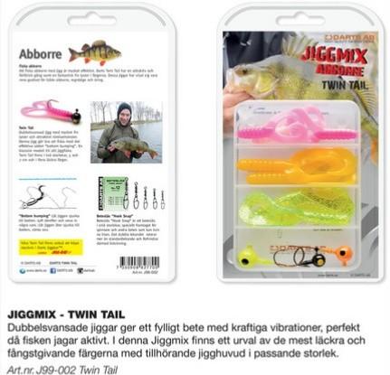 JiggMix-Abborre Twin Tail