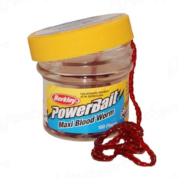 Power Bait Bloodworms Maxi Blood Red