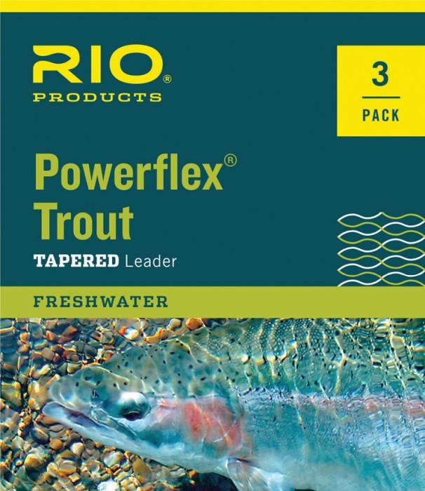 RIO Powerflex TroutLeader 9 ft 3 Pack Nylon