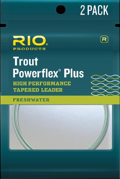 RIO PowerflexPlus Leader 9ft 2Pack Nylon