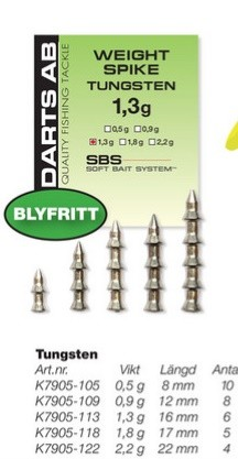 Darts WEIGHT SPIKE TUNGSTEN
