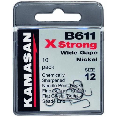 Kamasan B611 Wide Gape Nickel Xs