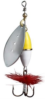 Wipp Spinnare.15 g Silver Gu/Vi